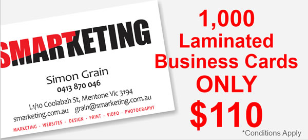 Printext | 1000 Laminated business cards only $110